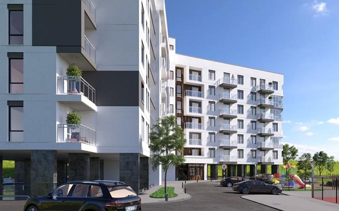 ЖК Славский Троещина фасады балконы