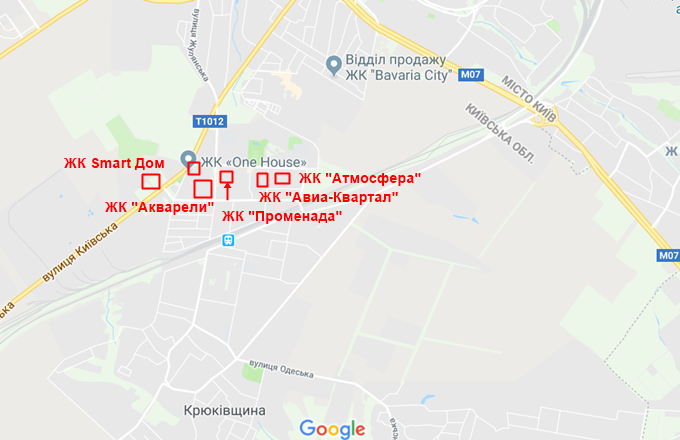 ЖК Смарт Дом Вишневое на карте