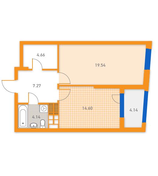 ЖК Солар Сити Укрбуд вариант планировки квартиры