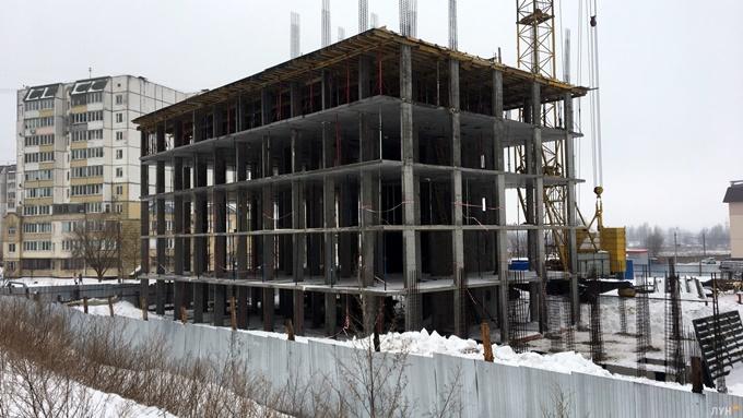ЖК Стожары Вишневое ход строительства первого дома