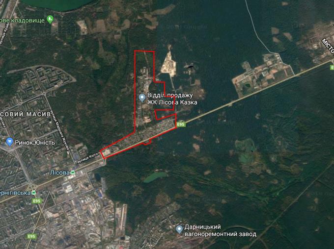 ДПТ Быковнянский лес Быковня на карте
