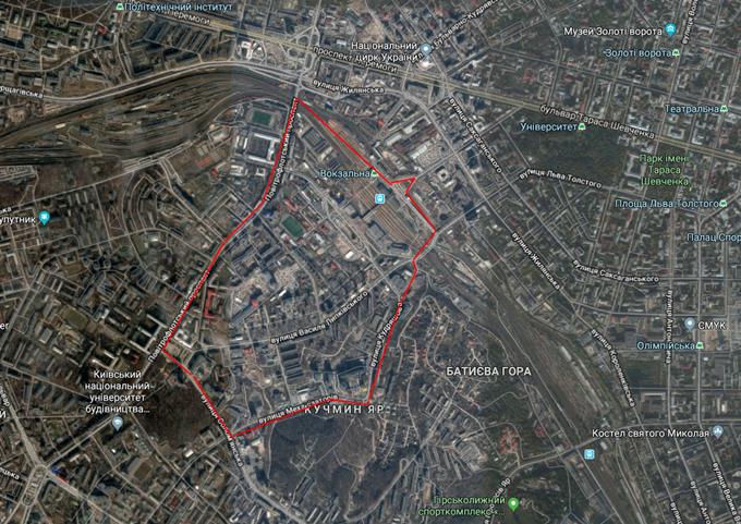 ДПТ Соломенка территория на карте