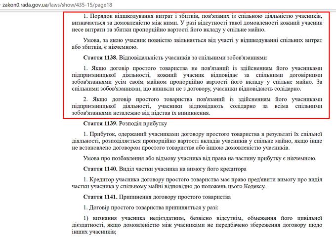 ЖК Авиатор Гостомель договор о совмесной деятельности