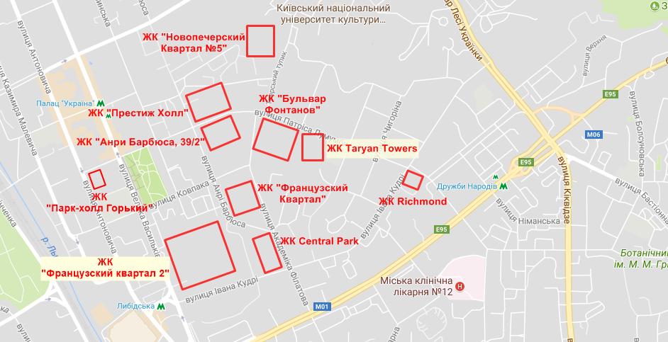 ЖК Французкий квартал 2 на карте
