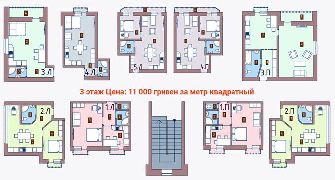 ЖК Новые дома в Броварах планировки квартир Княжицкая 47