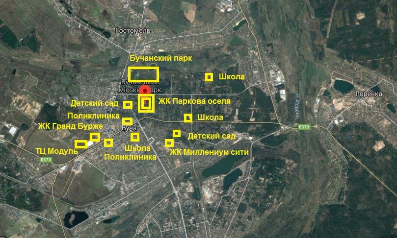 ЖК Паркова оселя Буча инфраструктура