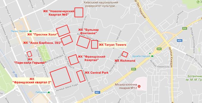 ЖК Престиж Хол на карте