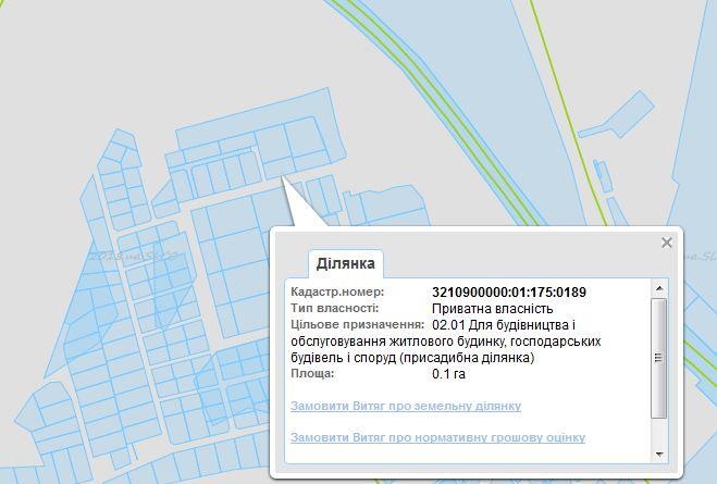 ЖК Сяйво 2 Ирпень данные кадастровой карты
