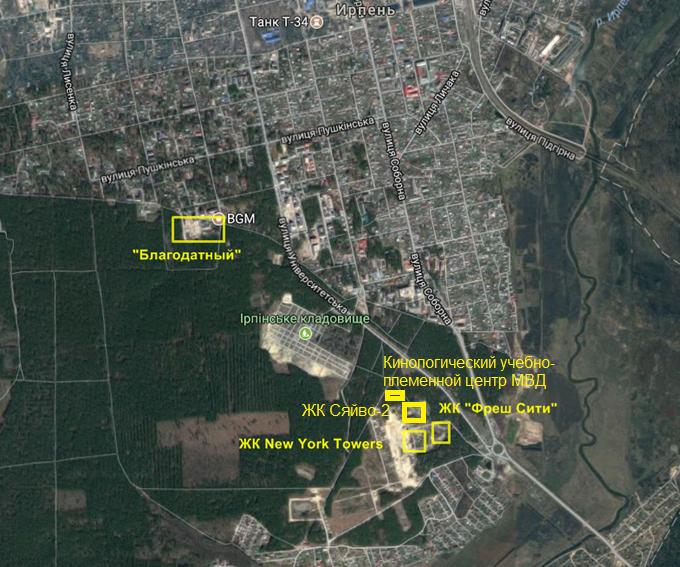 ЖК Сяйво 2 Ирпень на карте