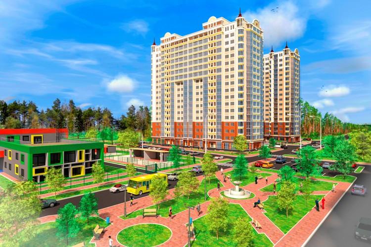 ЖК Сяйво 2 Ирпень парк и остановка