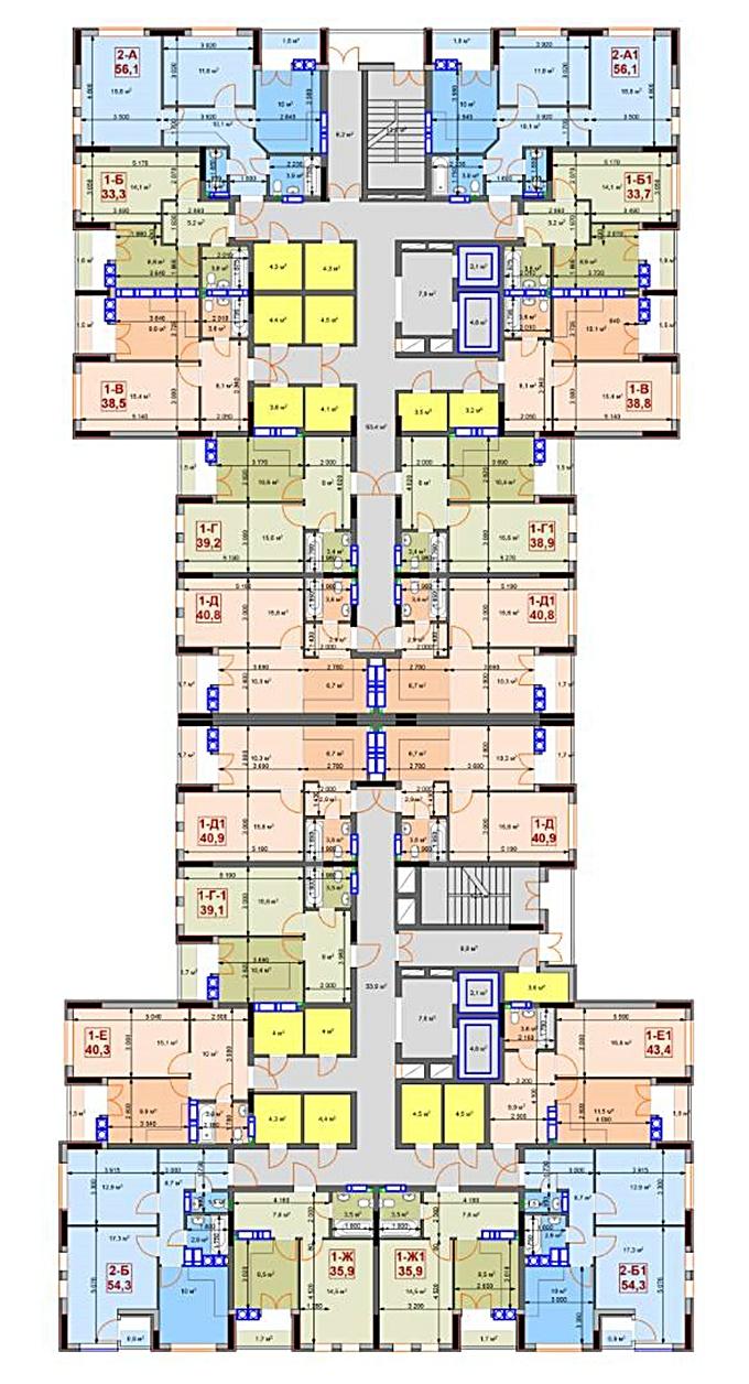 ЖК Скай 2 Ирпень поэтажный план