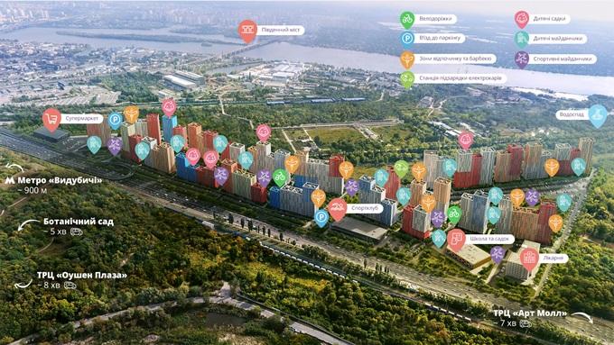 ЖК Свитло Парк с собственной инфраструктурой вид генплан