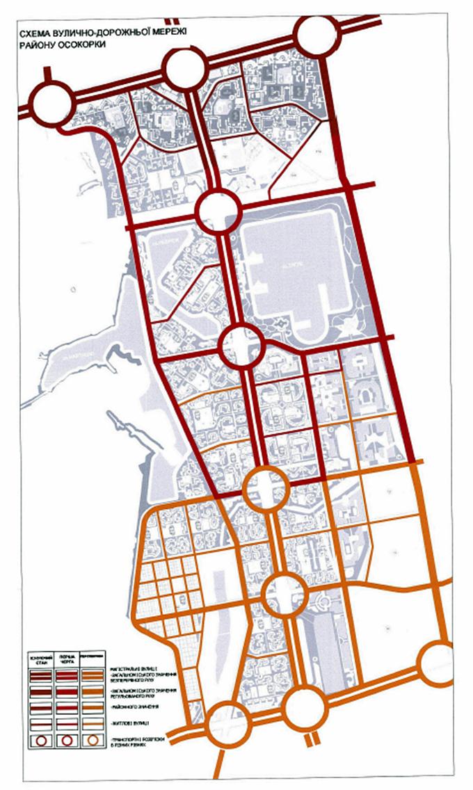 ДПТ Центральные Осокорки уличная сеть