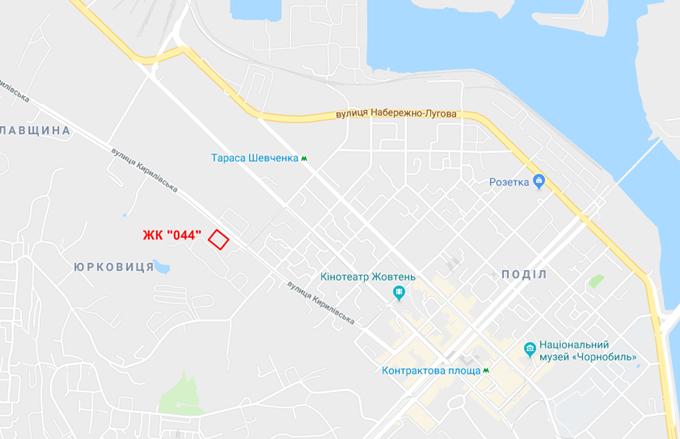 ЖК 044 на Подоле на карте