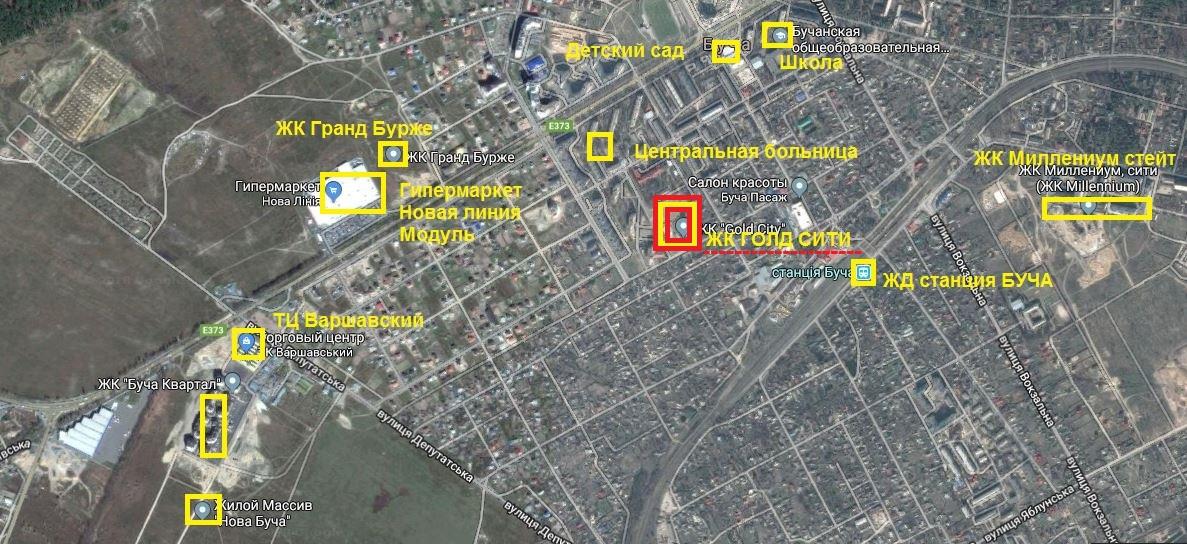 ЖК Голд сити в Буче инфраструктура
