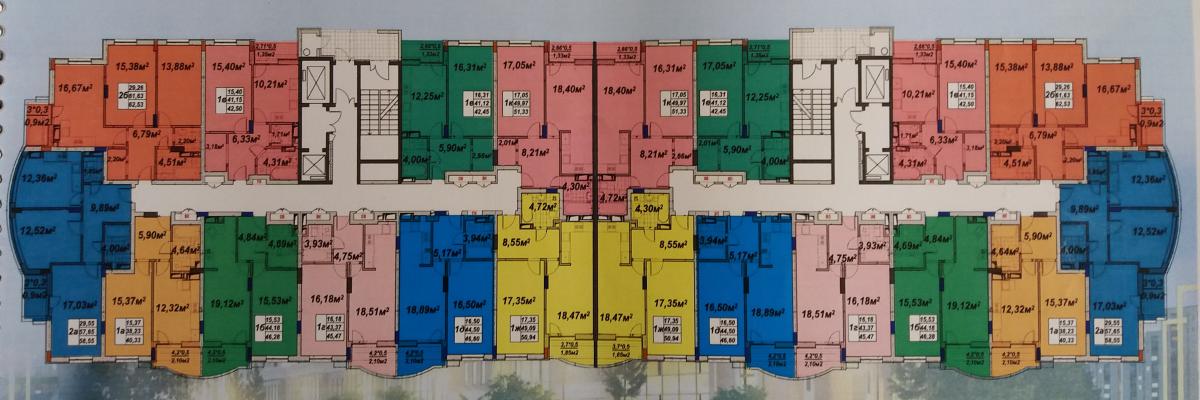 ЖК Голд сити в Буче поэтажный план