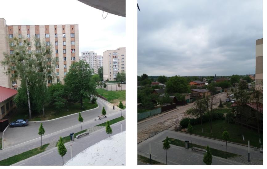 ЖК Голд сити в Буче вид из окон дома