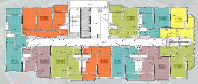 ЖК Лего Хаус Новая Волна 2 поэтажный план первой секции