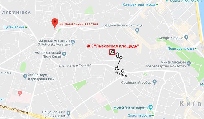 ЖК Львовская площадь от РИЭЛ на карте