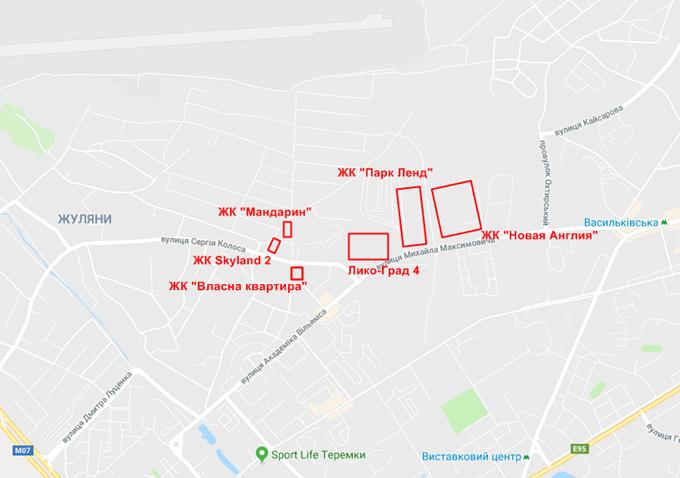ЖК Мандарин на карте