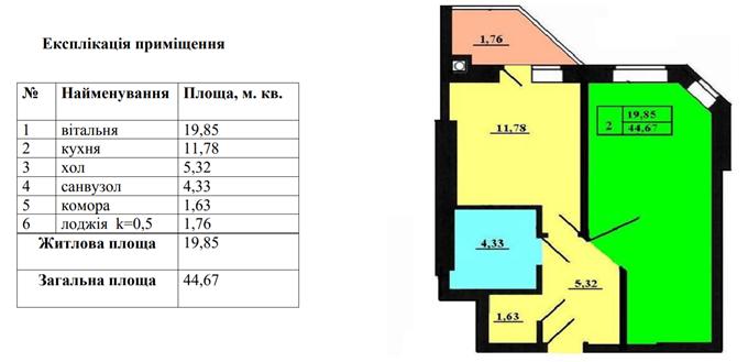 ЖК Петровский обновленный в Святопетровском вариант планировки однокомнатной квартиры
