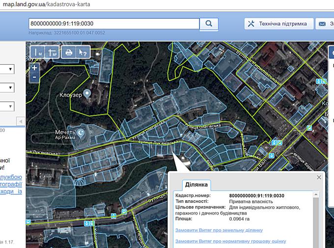 Клубный дом Подольский кадастровая карта
