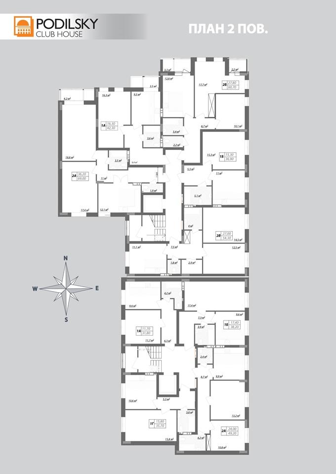 Клубный дом Подольский поэтажный план