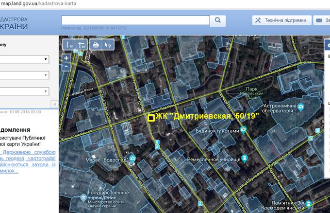 Клубный дом на Дмитриевской 60 19 кадастровая карта