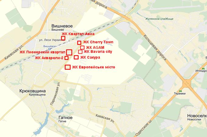 ЖК Агам в Крюковщине на карте