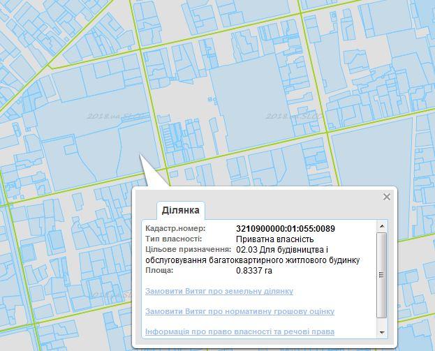 ЖК Атриум в Ирпене кадастровая карта