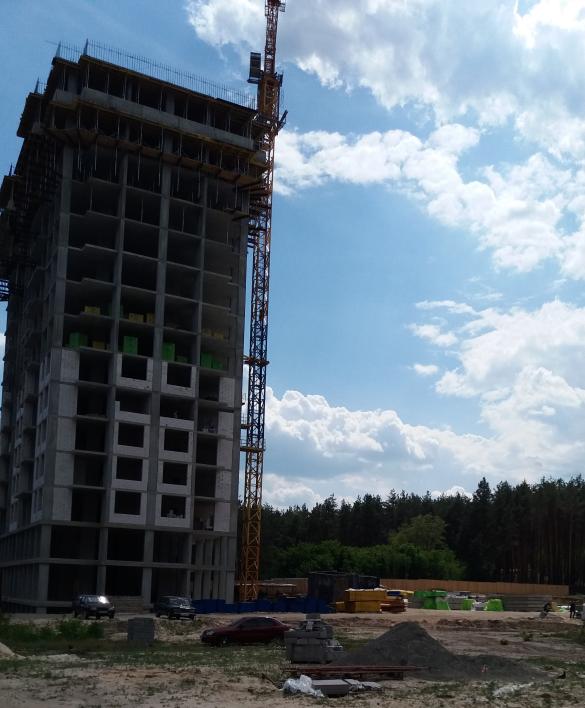 ЖК Центральный 2 в Ирпене ход строительства первого дома