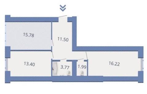 ЖК Есенин 2 в Ирпене вариант планировки двухкомнатной квартиры