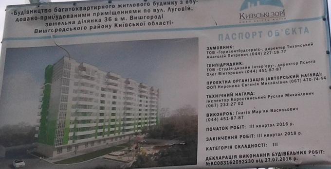 ЖК Киевские Зори в Вышгороде паспорт