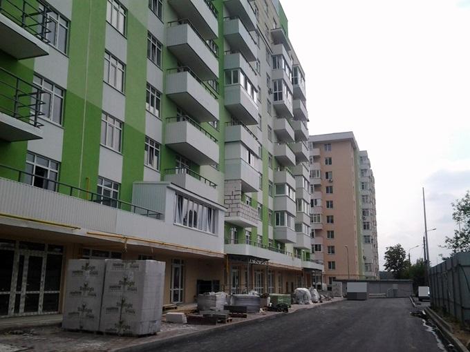 ЖК Киевские Зори в Вышгороде вид домов