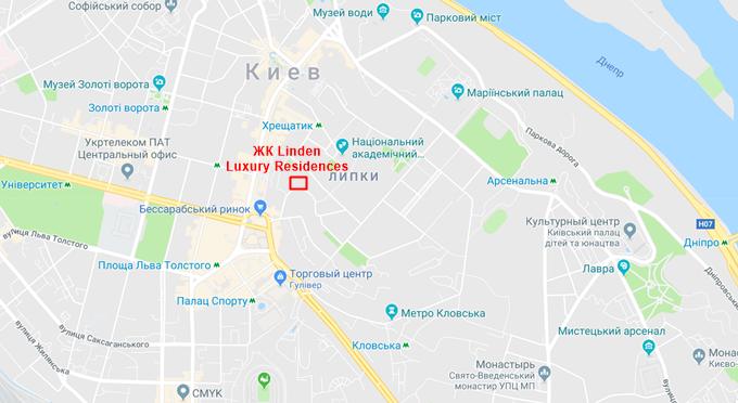 ЖК Линден Лакшери Резиденсиз на карте