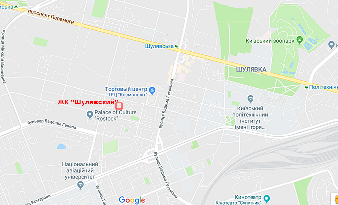ЖК Шулявский на карте