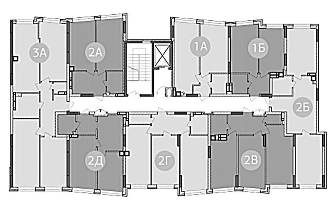 ЖК Синергия 3 плюс в Ирпене поэтажный план