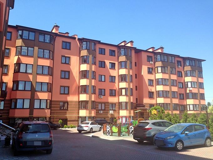 ЖК Волошковый в Софиевской Борщаговке фасад