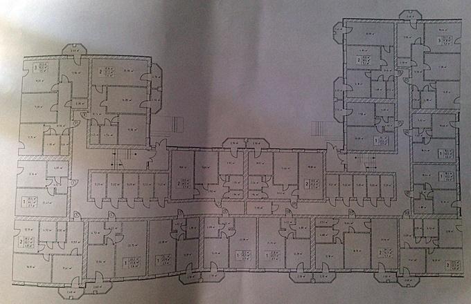 ЖК Волошковый в Софиевской Борщаговке поэтажный план девятого дома