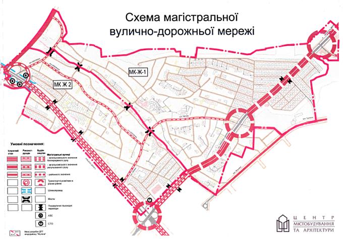 ДПТ Жуляны схема дорог