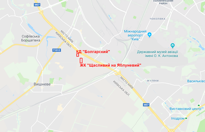 ЖК Болгарский на карте