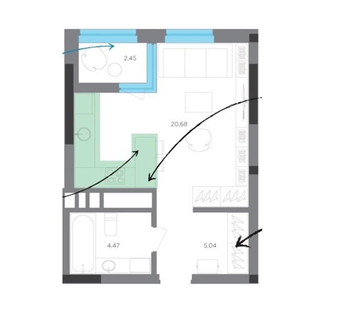 Квартиры до миллиона ЖК Тайм планировка