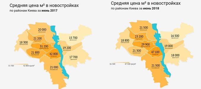 Рынок первичной недвижимости 2018 динамика по районам