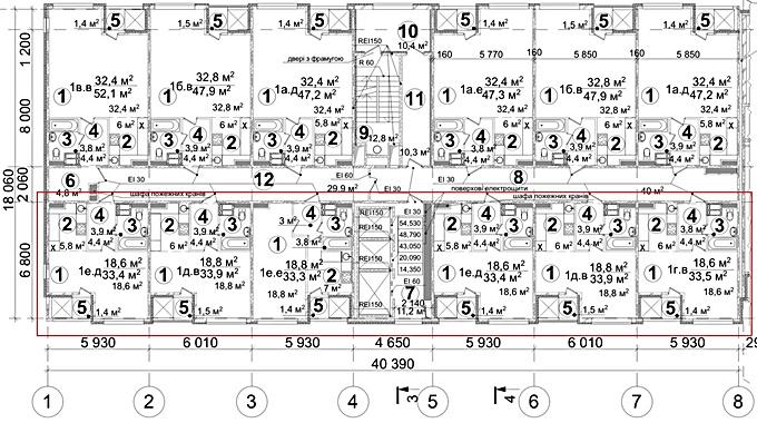 ЖК А 12 в Броварах на Симоненка поэтажный план