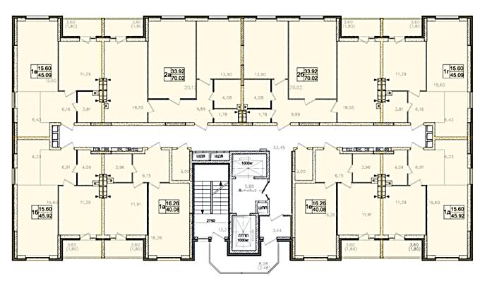 ЖК Атлант в Броварах поэтажный план второго дома