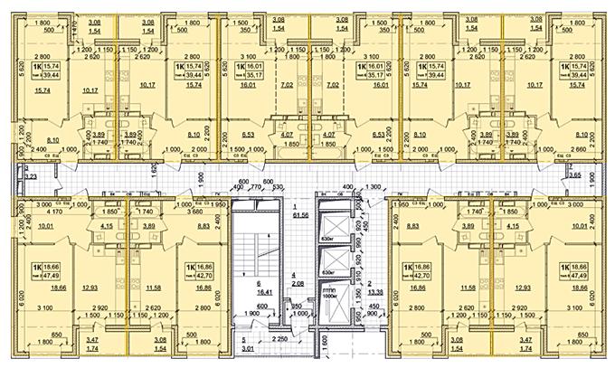 ЖК Атлант в Броварах поэтажный план пятого дома