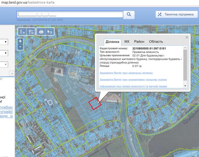 ЖК Континент Рэй в Буче кадастровая карта