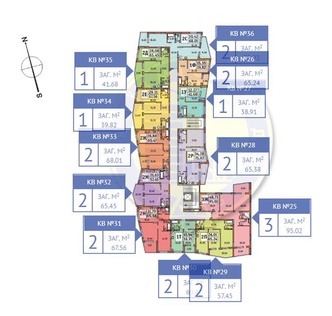 ЖК Итальянский квартал от КГС план этажа