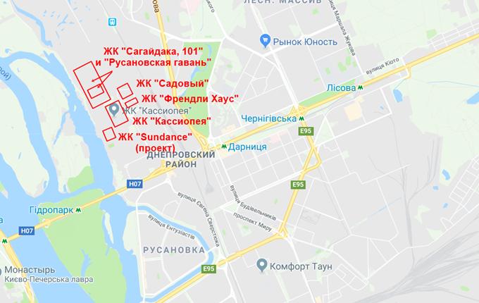 ЖК Кассиопея от Аркады на карте