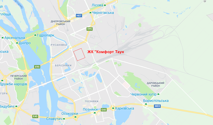 ЖК Комфорт Таун на карте